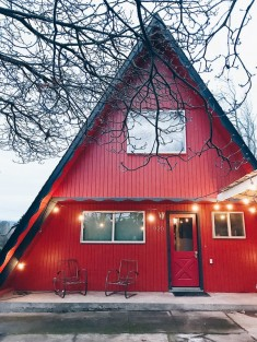 A Positively Perfect Red A-Frame Home in Oregon