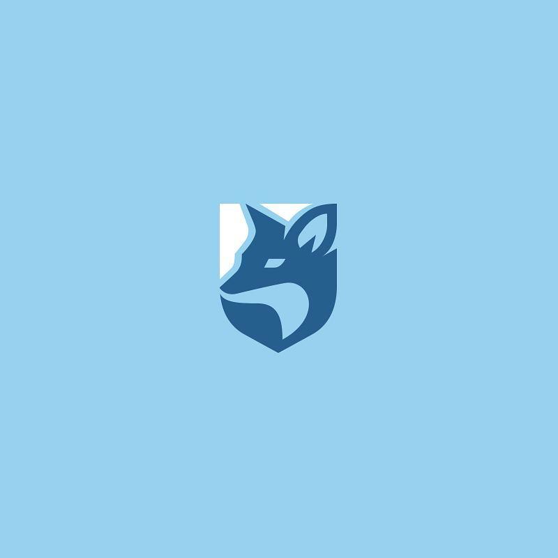 Fox shield logo idea design made by kreatank