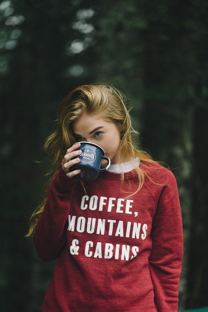Coffee, Mountains & Cabins Sweatshirt