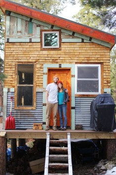 Tim and Hannah's Affordable DIY Self-Sustainable Micro Cabin