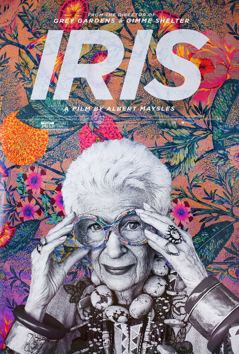 US one sheet for Iris (Albert Maysles, USA, 2014).
