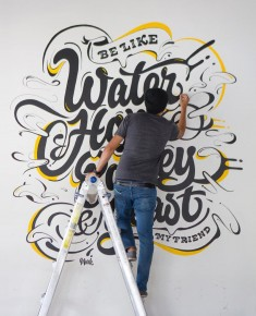 Be like water, hops, barley, yeast. Loving this mural by @markcaneso