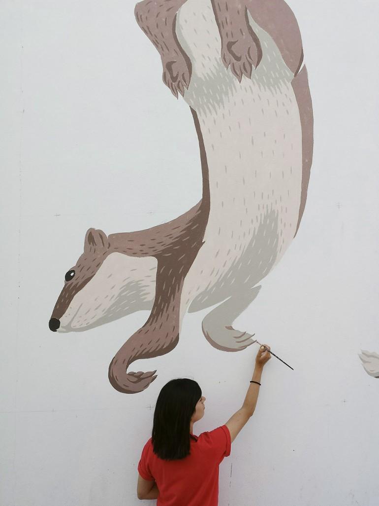 """""""War dance"""" wall by Javier de Riba"""