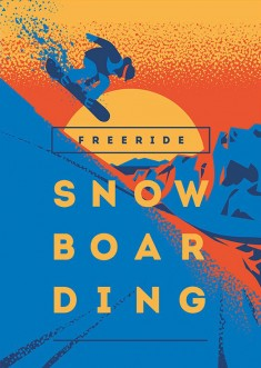 Snowboard Posters & T-Shirt print