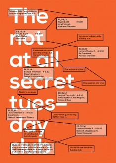 The not at all secret tuesday club, poster submitted and designed by Rick Raby