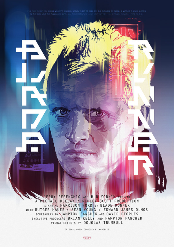 BLADE RUNNER / Vector Movie Posters