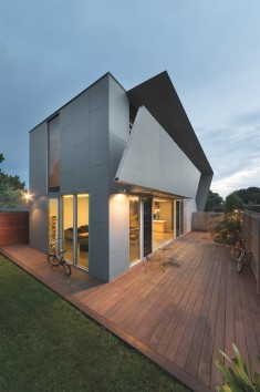 Angular Melbourne House Designed to Support an Active Lifestyle