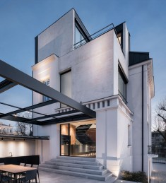 Classic White Concrete House Rebuilt in Stara Zagora, Bulgaria