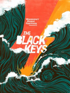 "The Black Keys ""Hangout Music Festival"" Poster"