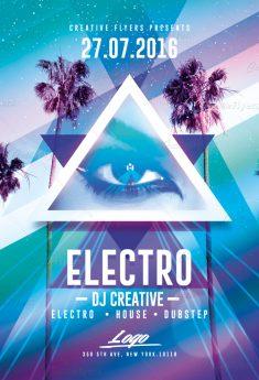 Electro flyer templates