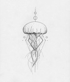 Jellyfish geometric by Arley Cornell