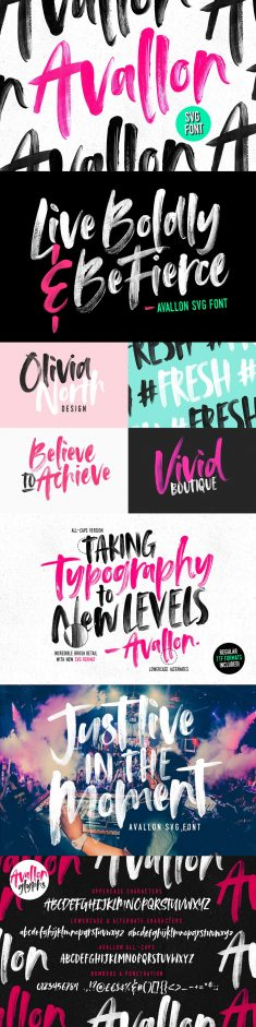 Avallon OpenType-SVG Font