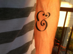 Ampersand Tattoo by Sean McCabe