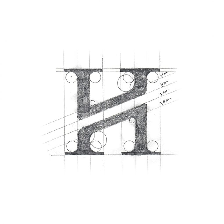 Monogram (H) creative process by Kasparas S
