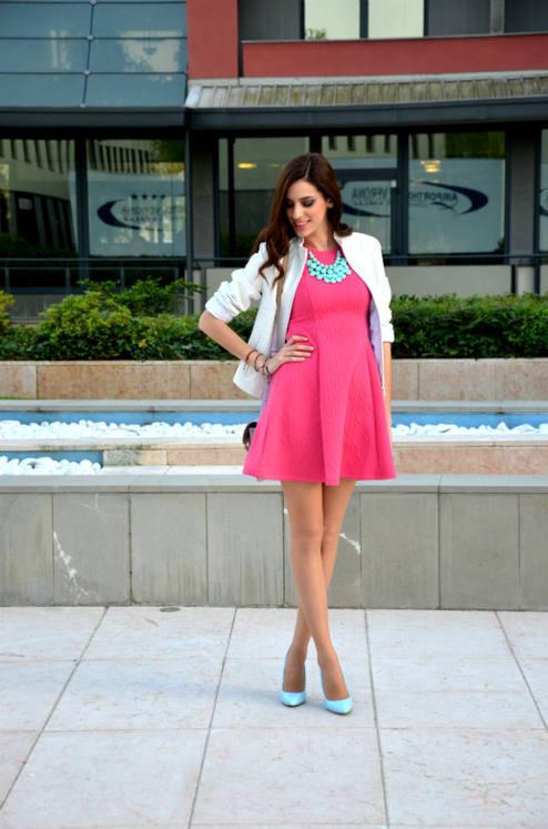 LoLoBu – Miss Selfridge Coral Cute Skater Dress