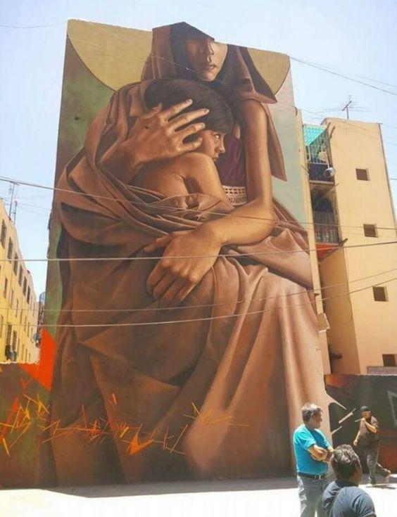 Street Art by Secreto Rebollo, located in Mexico City, Mexico