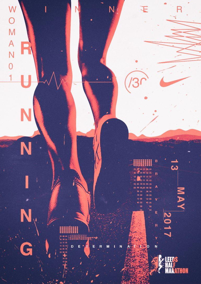 Poster Marathon Nike by Maximiliano Miranda