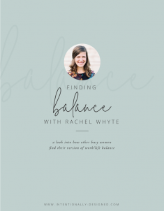 FINDING BALANCE WITH RACHEL WHYTE