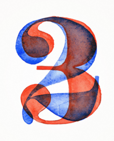 Resistenza watercolor numbers