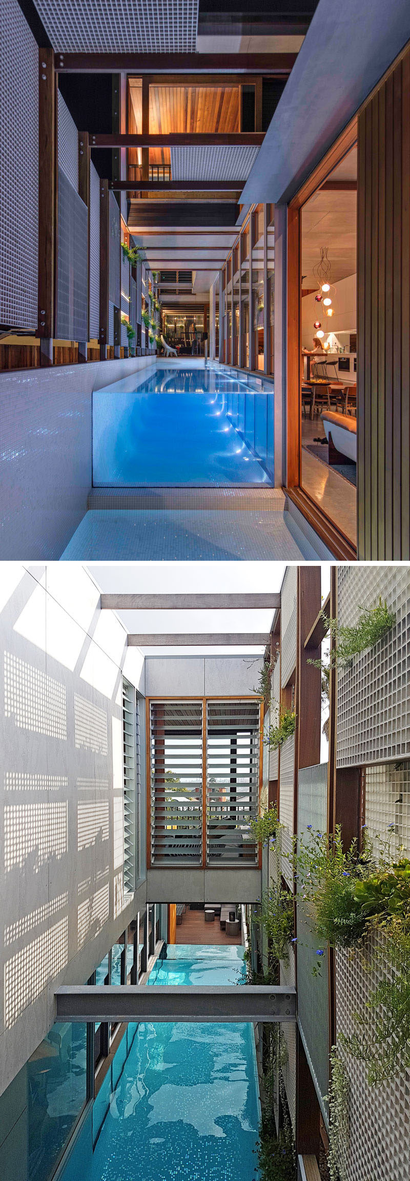 This New House Was Surrounded With Screens To Filter The Light And Create Privacy