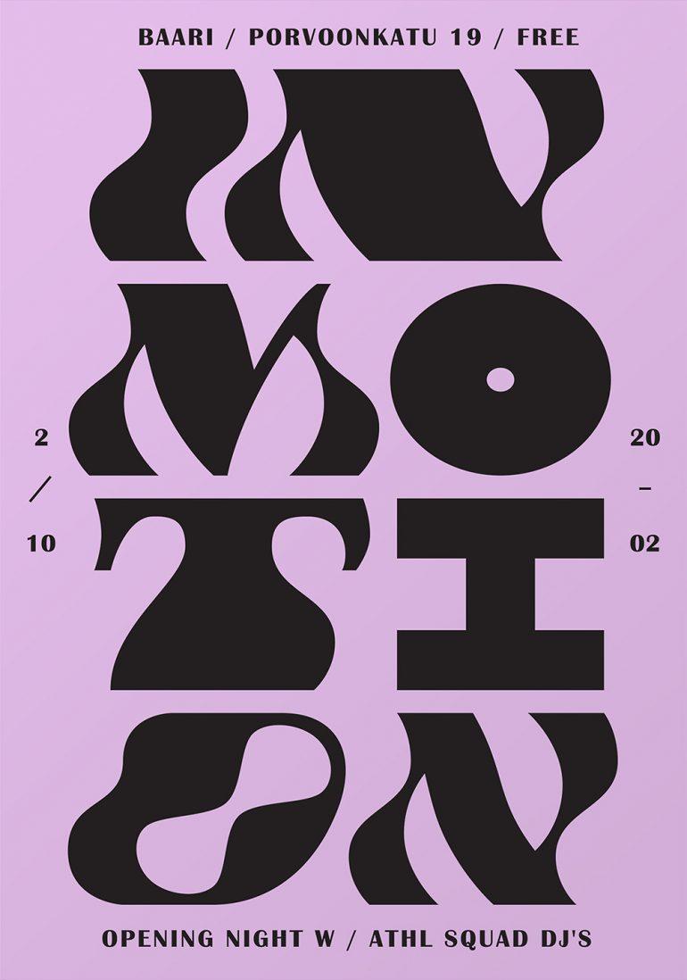 In Motion, poster designed by Martin Martonen