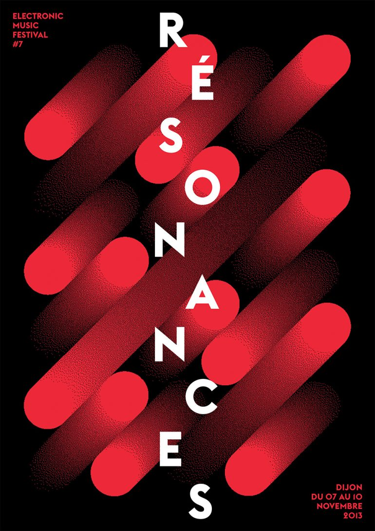 Résonances, Poster submitted and Designed by Atelier Tout va bien (Mathias Reynoird & Anna  ...
