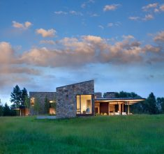 Crescent House in Wyoming by Carney Logan Burke Architects