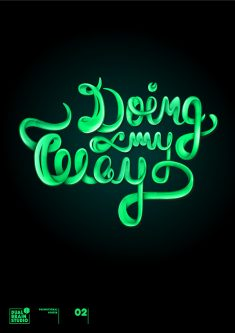 Doing My way – Lettering