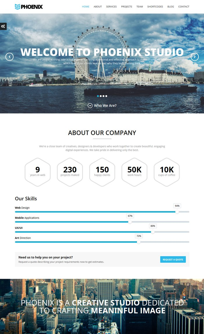 Phoenix – Responsive One Page Parallax Template