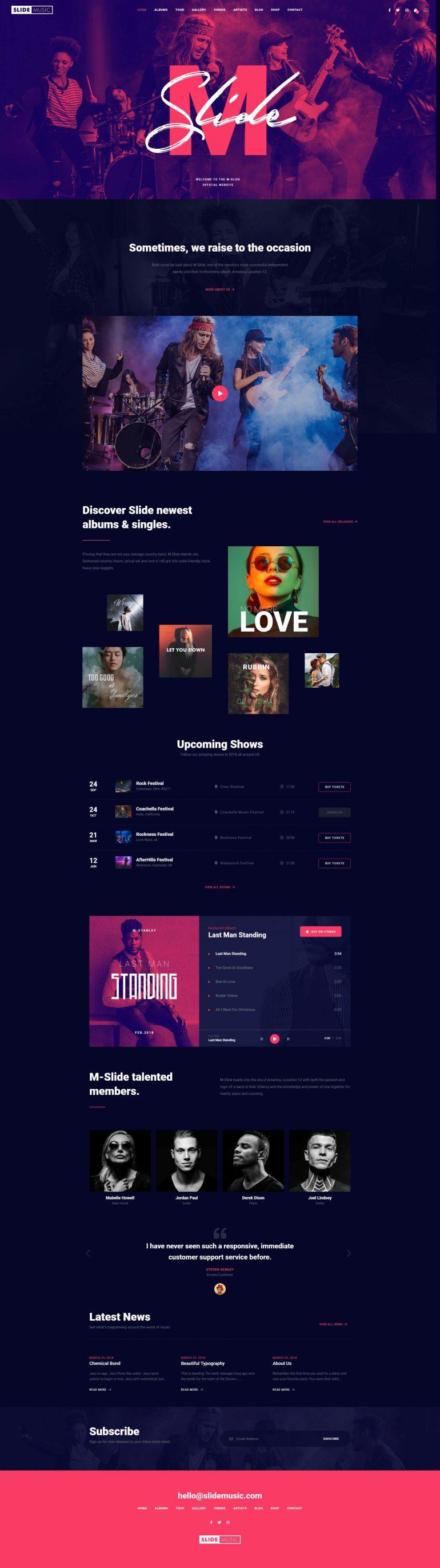 Slide – Creative Music Template