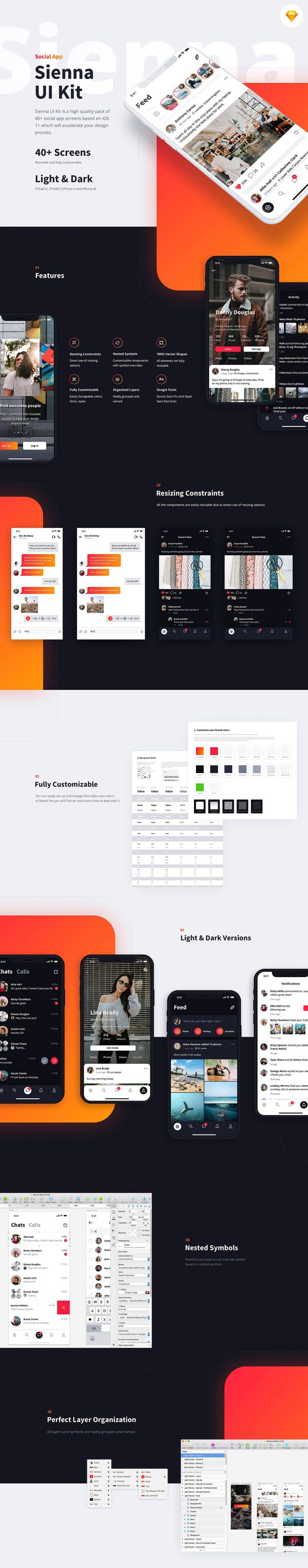 Sienna iOS UI Kit