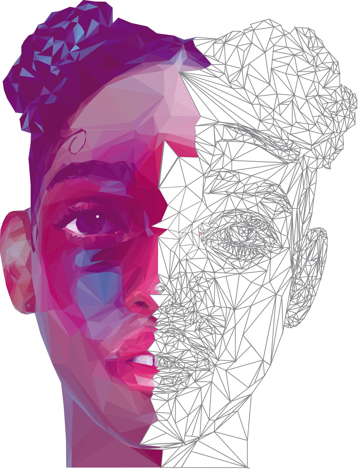 FKA Twigs - Low Poly High Poly Portrait