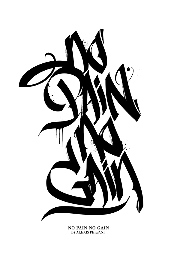 /// Black & white Calligraphy /// by Alexis Persani
