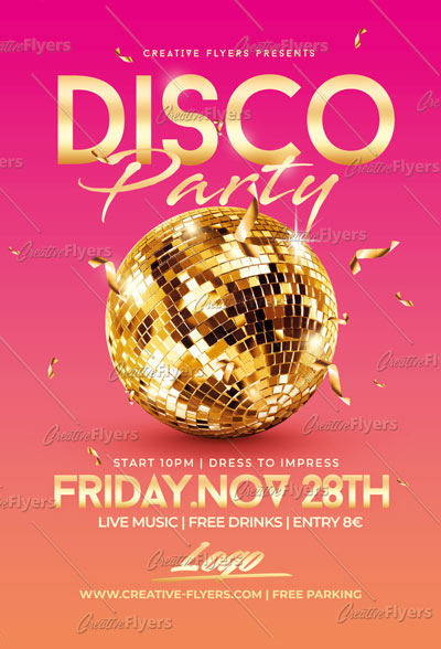 Disco Flyer Psd Template
