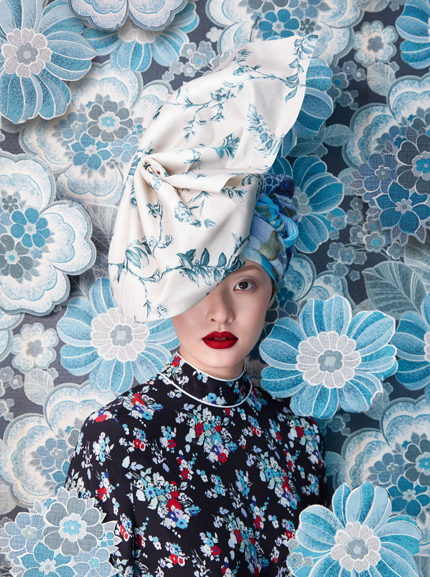 Harper's Bazaar Flower Fashion Photography by Sandrine & Michael