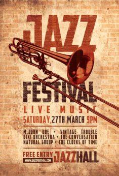 Jazz flyer festival