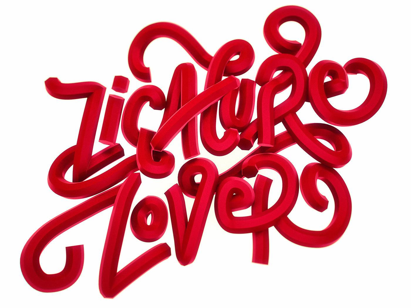 Lettering ligatures