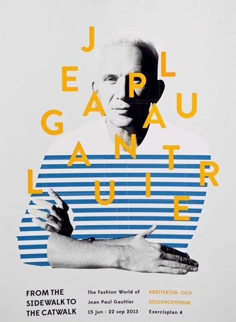 """Jean Paul Gaultier Exhibition design """"From the Sidewalk to the catwalk"""""""
