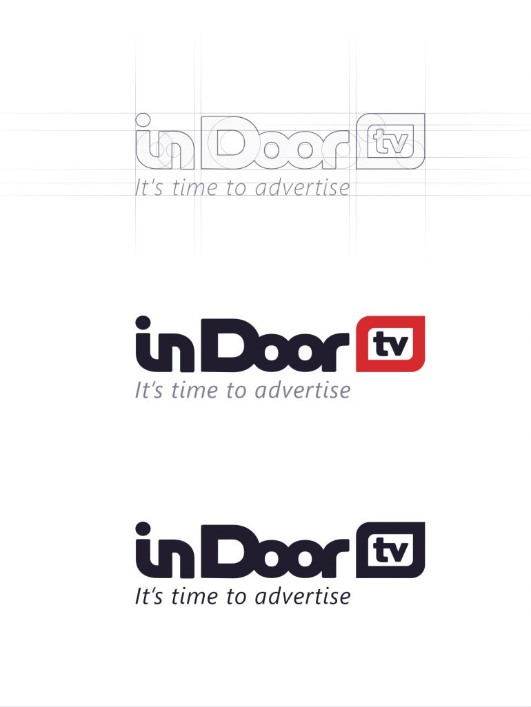 In Door TV – Process logo creating