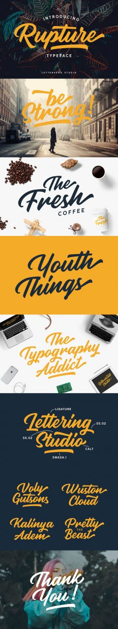 Rupture Typeface – Font Duo