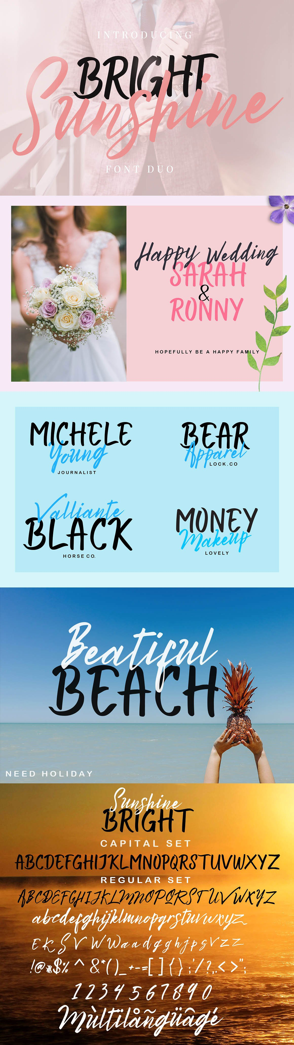 Bright Sunshine Font Duo