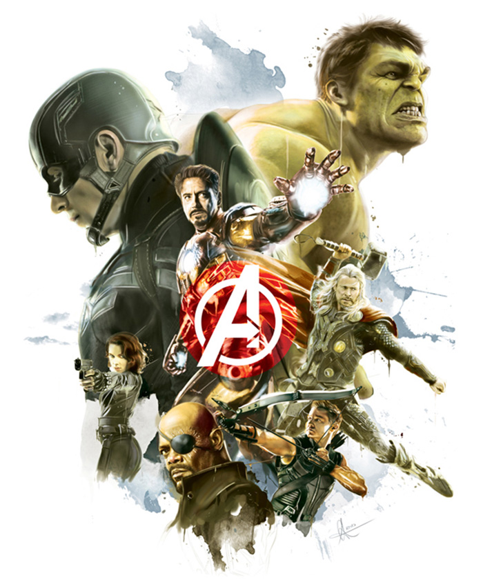 The Avengers by Alberto Reyes Francos