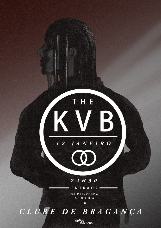 Poster for The KVB show in Bragança, promoted by Dedos Bionicos.