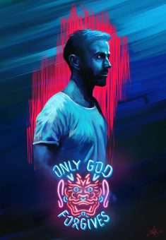 Alternative movie poster – Only God Forgives D painting