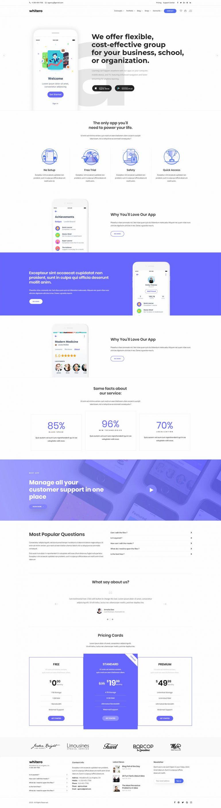 App Launch – Whitero