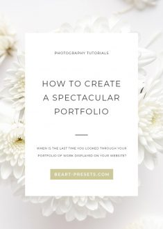 HOW TO CREATE A SPECTACULAR PORTFOLIO