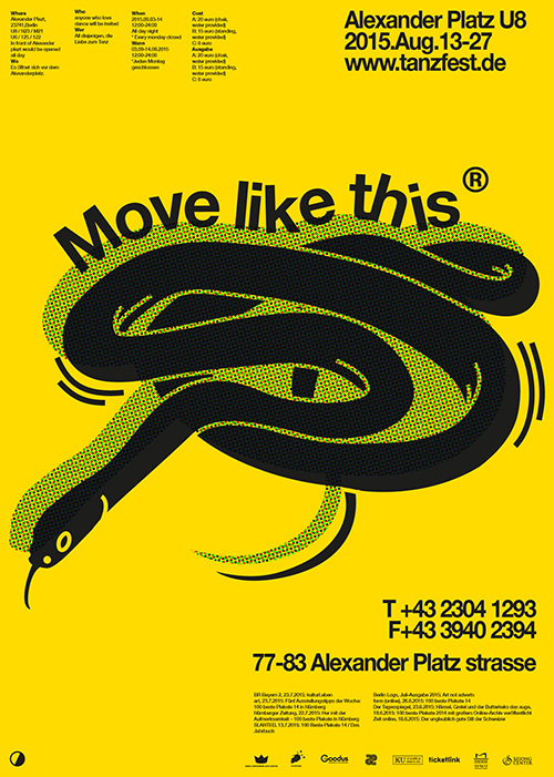 Move like this; Tanzfestival Poster in Berlin