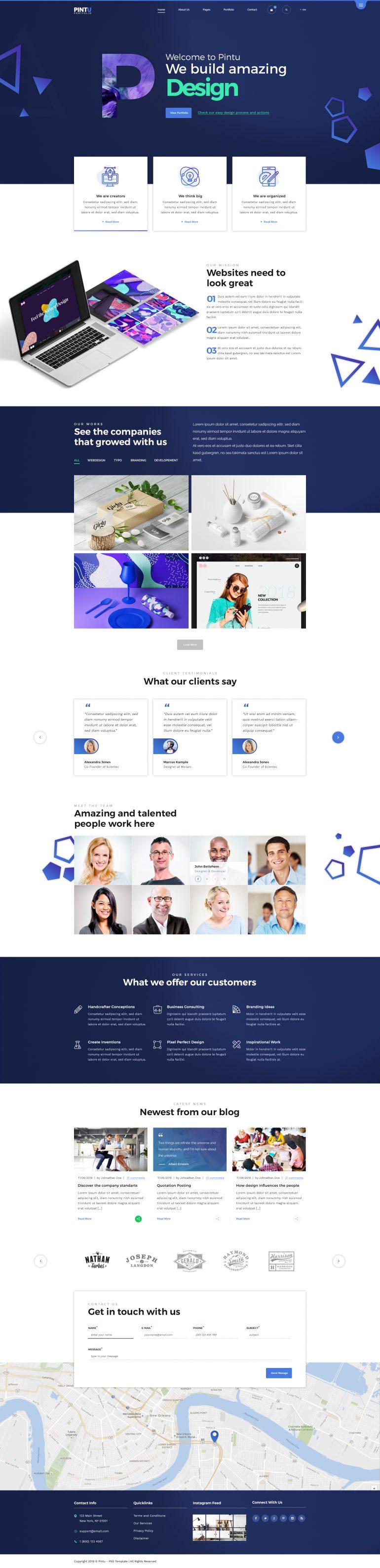 Pintu – Portfolio HTML5 Template by KL