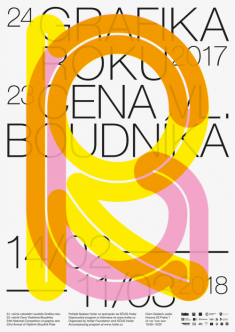 Grafika Roku 2017 – a poster for the Czech national competition of graphic arts.
