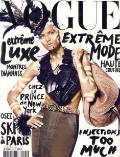 French Vogue November 2009 cover & editorial